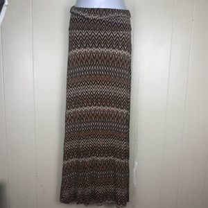 DNA Maxi Skirt Dress Aztec Print Sm
